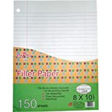 HomeBay ST002184607603489 Recycled Filler Paper, 3 Hole Punch, Loose Leaf Paper, Wide Ruled