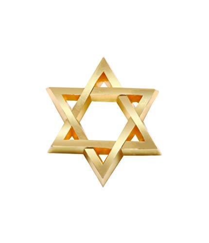Star of David Lapel Pin 24 Karat Gold Plated | Religious Star of David Lapel Pin | Jewish Star of David Lapel Pin | Israel Star of David Lapel Pin
