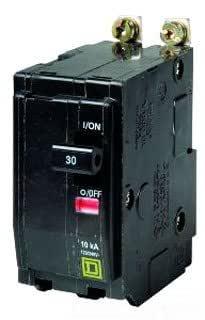Lot of 3 Used Square D QOB220 20A 2p 240V Bolt-on Breaker