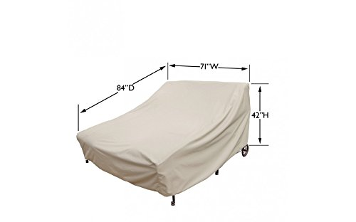Treasure Garden Double Chaise Lounge with elastic and 4 ties - Protective Furniture Covers