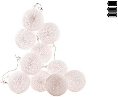dcasa - Guirnalda Luz led 10 bolas algodon muy romantico por noche ...