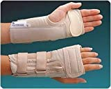Rolyan D-Ring Wrist Brace with MCP Support D-Ring Wrist Brace with MCP Support, Right Size: M 6 3/4 by Rolyan