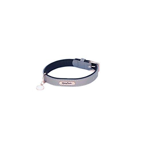 ZippyPaws Leather Collar - Slate M