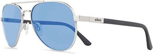Revo Raconteur Re 1011gf Polarized Aviator Sunglasses, Silver, 58 mm