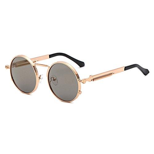 Lunettes de soleil rétro non-polarisées punk lunettes de personnalité masculine et féminine KbAwI5OAM