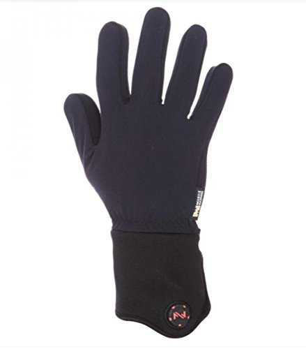 Mobile Warming Unisex-Adult Heated 12v Gloves Liner (Black, - Heated Liners Glove Battery
