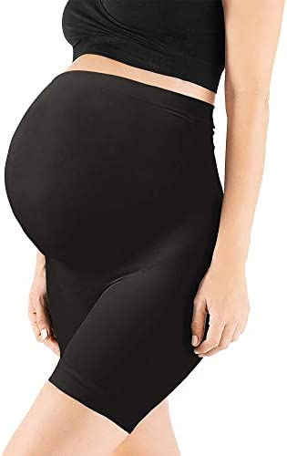 OTIOTI Womens Seamless Maternity Shapewear High Waist MidThigh Pettipant Pregnancy Underwear for Belly Support