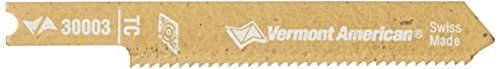 Vermont American 30003 U Shank 2-3/4-Inch 18TPI Cabide Tipped Stainless Steel Jigsaw Blade