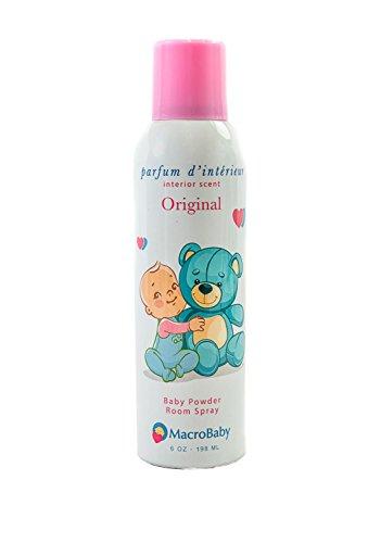 (Macrobaby Baby Powder Room Spray | Interior Scent | Long Lasting Aroma, 6Oz)