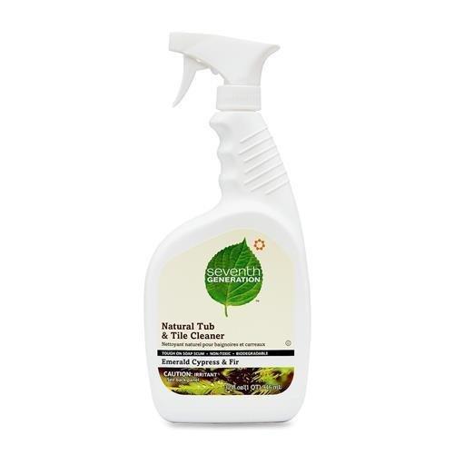 22750 Seventh Generation Natural Tub and Tile Cleaner - Spray - 0.25 gal (32 fl oz) - Cypress & Fir, Fresh Scent - 1 Each - - Tub Cypress
