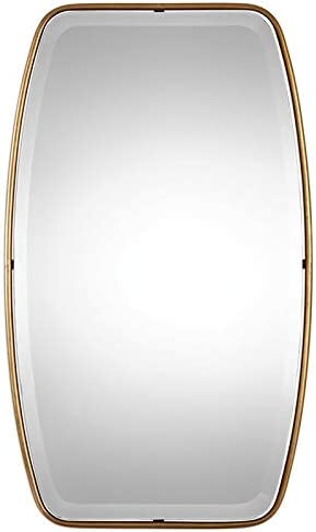 Uttermost Canillo Gold 21 x 36 Floating Wall Mirror