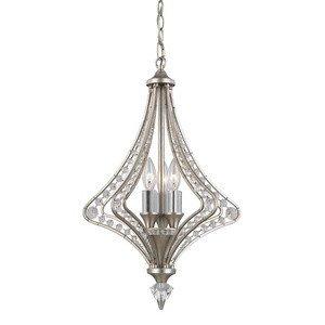 ELK Lighting Ventoux 3-light Chandelier, Satin (Sterling Silver 5 Light Candelabra)