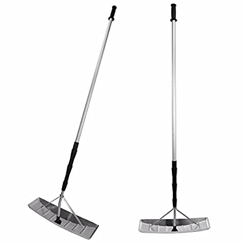 New XtremepowerUS 21' foot with 3 Sections Telescoping Snow Shovel Roof Rake with Aluminum Blade for Outdoor Snow (Snow Rakes Roof Plastic)