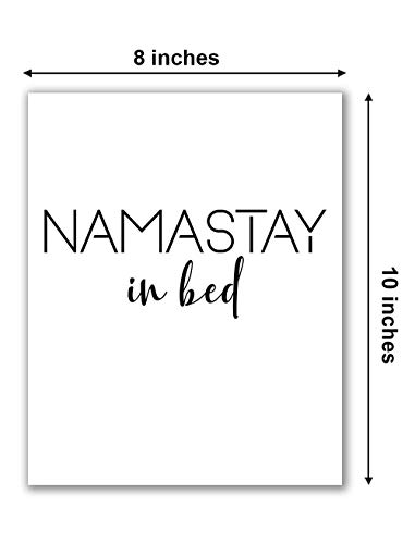 "Namastay in Bed Print - 8"" x 10"" - Unframed, Modern Minimalist Art, Bedroom Decor Art, Namastay In Bed Poster, Scandinavian Print, Yoga Decor Bedroom, Modern Wall Art"