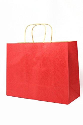 Singular Metallizing Singular Metallizing Colored Horizontal Shopping Bags, Gift Bags, Kraft Paper Bags with Handle, 13
