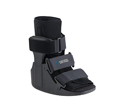United Ortho Short Cam Walker Fracture Boot, Extra Small, Black