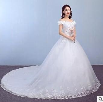 369f25d691d 【ニコモモ】nikomomo 花嫁ドレス 妊娠ドレス 編み上げタイプ 豪華な ウェディングドレス ロングドレス