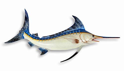 (LX Handpainted Marlin Fish Wall Mount Decor Plaque 18