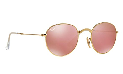 Ray-Ban Folding Round Sunglasses RB 3532 001/Z2 50mm Pink Mirror +SD - Ban Pink Folding Ray Round