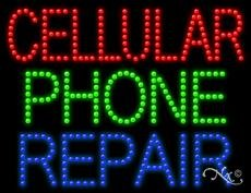 Cellular Phone Repair - Ultra Bright LED Sign (Cellular Leds)