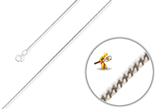 """lakama or blanc 18carats collier chaîne, plus claire, sur les deux côtés en 40,6cm/40cm-18""""/45cm-20""""/50cm"""
