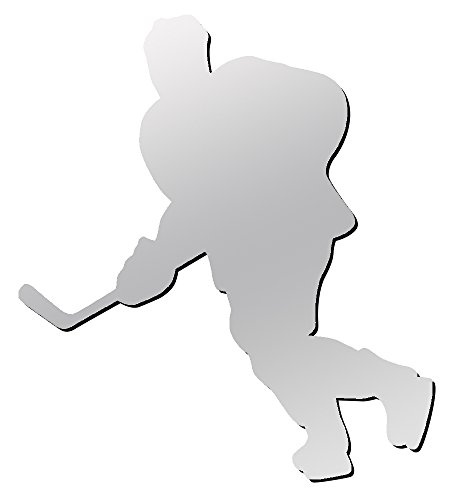 Hockey Player Decal - A&R Sports Hockey Player Magnet & Decal, Chrome