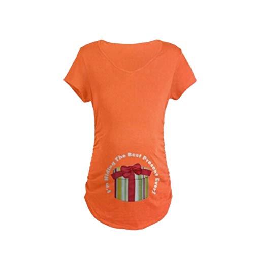 Yying Pregnants Magliettine Incinte Casual per Donne K169 Camicetta maternità Tees Top Maternity Print Clothes Womens BUBrw
