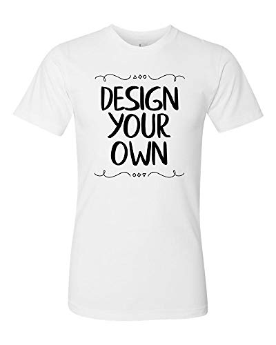 American Apparel-Fine Jersey T-Shirt, Custom Design Your Own, White, Customize, XX-Large