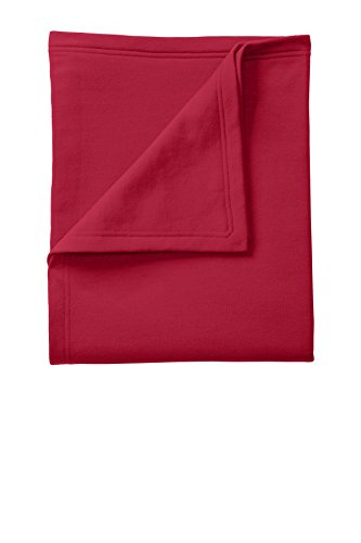 (Port & Company Core Fleece Sweatshirt Blanket OSFA Red)