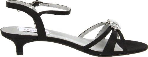 Ankle Dyeables Black Women's Satin Strap Sandal Penelope 8wBnxwqST