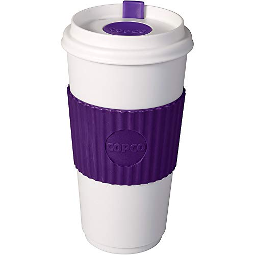 Copco To Go 16 oz. BPA Free Plastic Travel Tumbler with Slide Open Spillproof Lid, Purple
