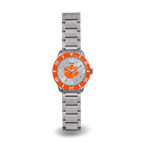 (Rico Clemson Tigers NCAA Key Watch with Stainless Steel Band)