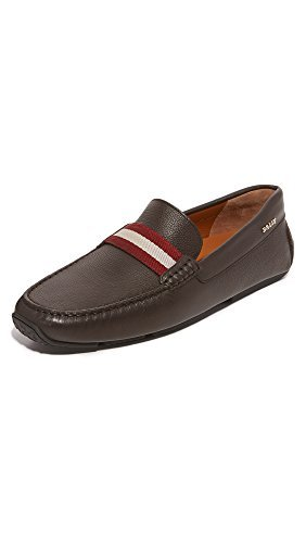 Bally Leather Loafers - BALLY Men's Pearce Drivers, Brown, 43 EU (10 D(M) US Men)