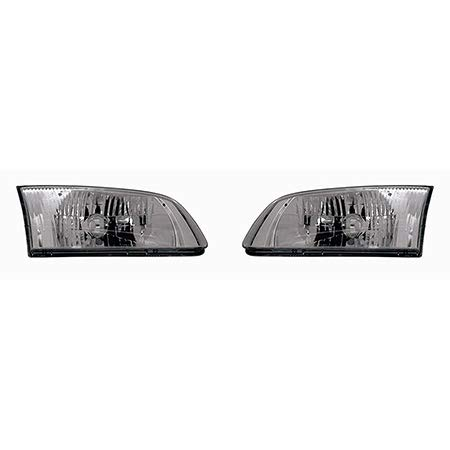CarLights360: Fits 2000 2001 2002 Mazda 626 Headlight Assembly Driver and Passenger Side w/Bulbs - Replaces MA2502116 - Passenger 626 Mazda Headlight Side