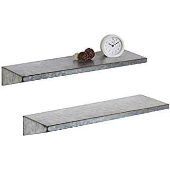 Amazon Com 36 Quot Galvanized Metal Industrial Wall Shelf