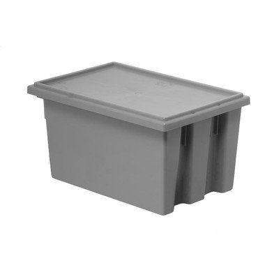Stack and Nest Storage Tote Lids for snt190/5 (6 Piece Set) [Set of 6] Color: Gray by Quantum Storage Systems