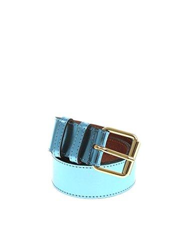 Essentiel Women's Pruneaubeltsw10 Light Blue Leather Belt by Essentiel