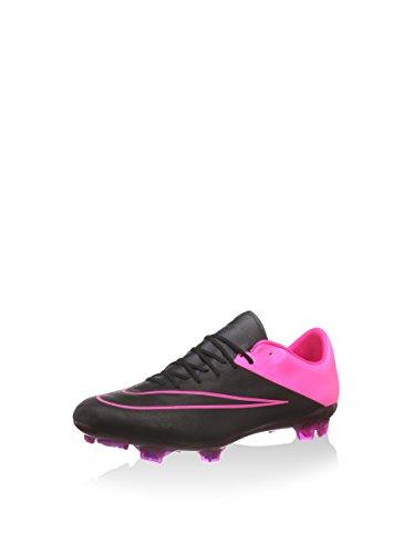 Nike Mercurial Vapor X Leather Fg, Botas de Fútbol para Hombre, Negro / Fucsia, 45.5 EU