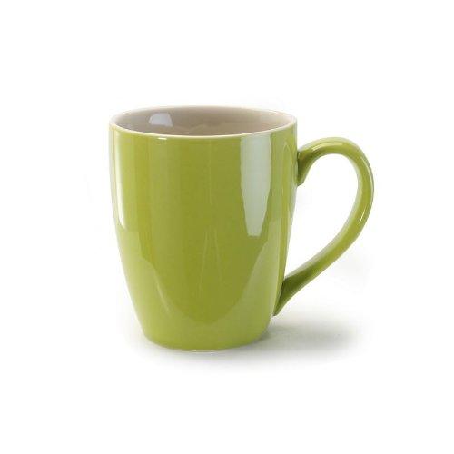 BIA Cordon Bleu 15 ounce Green Coffee Mugs -Set of (Green Stoneware Mug)