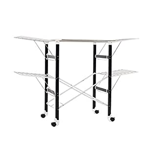 Premium Quality XX Large 174cm Heavy Load Sturdy Foldable Clothes Laundry Drying Rack Stainless Steel White Frame