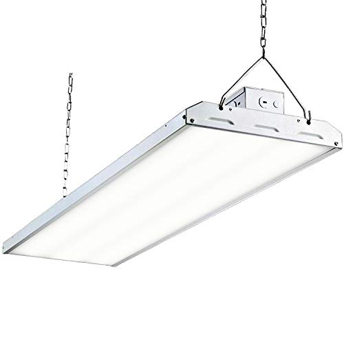 Hykolity LED High Bay Shop Light, 4FT 325W Linear LED Industrial Workshop Light, Warehouse Aisle Area Light 42250lm, 5000K Daylight, 4 Lamp Fluorescent Equivalent, 1-10V Dim, UL, DLC Complied, 1 Pack