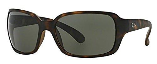 Ray-Ban Highstreet RB 4068 Sunglasses Matte Havana / Green Polarized 60mm & HDO Cleaning Carekit - Highstreet Polarized Ban Ray Sunglasses