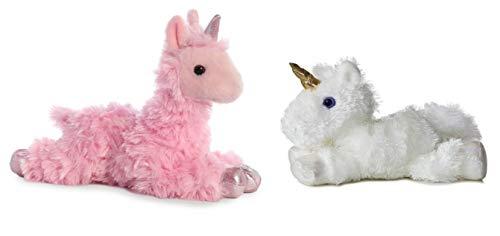 Aurora Mini Flopsies Celestial Unicorn & Pink Llamacorn!