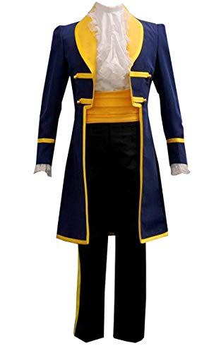 ZYHCOS Adult/Child Prince Beast Halloween Party Costume Fantasy Cosplay Outfits (Male-XXL) -