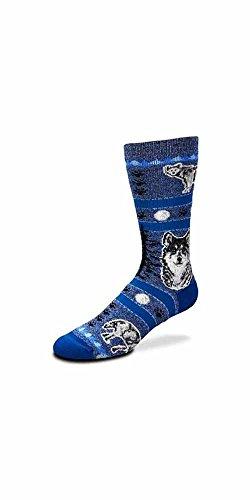 For Bare Feet Women's FBF Originals Wildlife Novelty Socks, Wolf, Medium