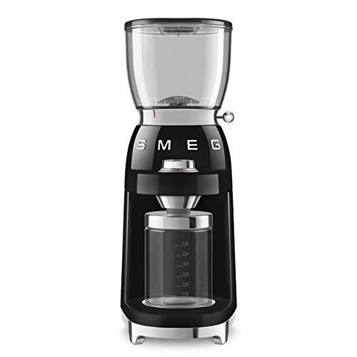 Smeg 50's Retro Style Aesthetic Coffee Grinder, CGF01 (Black)