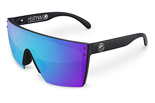 Heat Wave Visual Lazer Face Sunglasses in Galaxy Blue