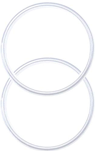 Pack of 2-20/10 oz Replacement Rubber Lid Ring, Gasket Seals, Lid for Insulated Stainless Steel Tumbler, Cups Vacuum Effect fit for Brands- Yeti, Ozark Trail, Beast, White by C&Berg Model - Seal Lid Cup