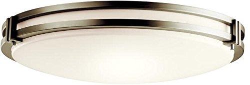 Kichler 10828NI Flush Mount 3-Light Fluorescent, Brushed Nickel