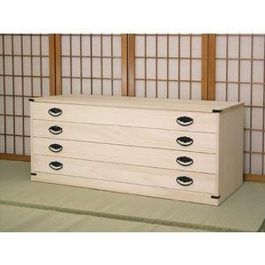 桐たんす4段着物用(M)国産品本物(桐タンス桐箪笥) B002YH06VU